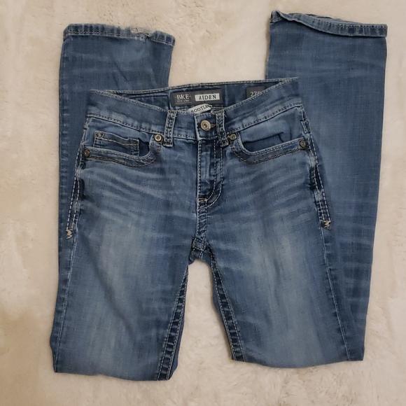 BKE Aiden Bootleg Blue Jeans sz 27
